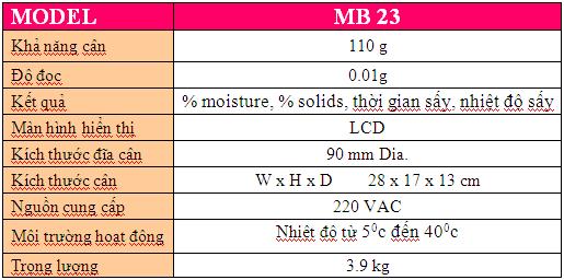 Cân sấy ẩm MB 23 Ohaus, cân phân tích độ ẩm, cân đo độ ẩm-LH 0914010697